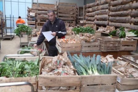 Ferme_Saint_Andre_Préparation des paniers légumes