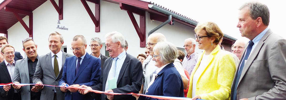Le vendredi 9 septembre 2016, à Saint-Jean-le-Vieux, la Fondation RTE assistait à l'inauguration des nouveaux locaux de l'association Lagun qu'elle a soutenue en octobre 2014.