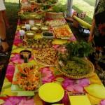 Le buffet préparé par les adhérents de l'association