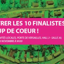 Venez rencontrer les 10 finalistes du Coup de cœur des mairies de France au Salon des maires et des collectivités locales qui aura lieu au Parc des expositions Porte de Versailles à Paris le 23 novembre à 9H30