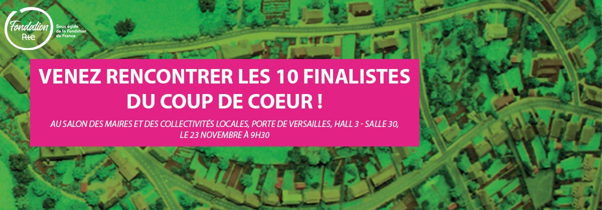 Les 10 finalistes du Coup de cœur des mairies de France seront au Salon des maires et des collectivités locales, le 23 novembre prochain, pour échanger sur le rôle des campagnes dans la transition économique, sociale et écologique de notre territoire. Venez les rencontrer!