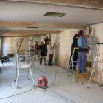 Les travaux dans la dépendance de la Chartreuse de Neuville