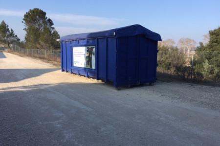 Les containers bleus de GRENES